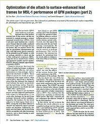 透过表面强化工艺优化的引线框架表面贴装性能 QFN 封装元件的性能(第2部分)