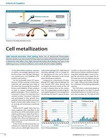 太阳能电池金属化 - 光诱导化学沉银