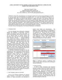 降低硅太阳能电池的成本  用于导入量产的湿制程金属化工艺候选者的风险评估